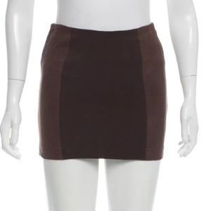 Alice and Olivia Lamb Leather Mini Skirt